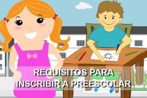 Inscribir a preescolar a los hijos