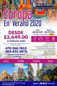 Viajar a Europa en 2020